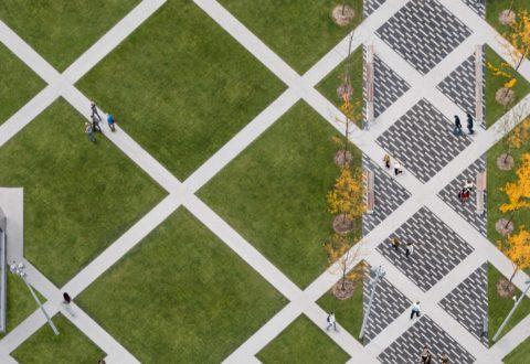 Bird's eye view of Transit Square