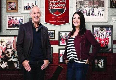 Rogers Hometown Hockey photo with Ron McLean and Tara Sloane