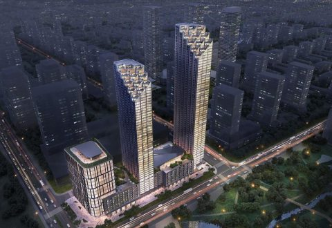 Rendering of proposed 7800 Jane Street development